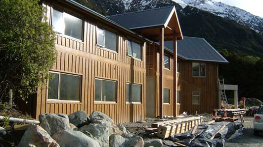 Aoraki Alpine Lodge completed structure