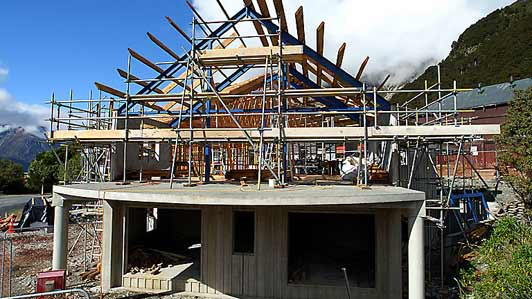 Aoraki Alpine Lodge under construction
