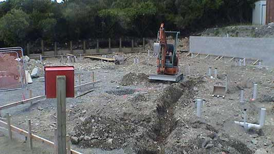 Aoraki Alpine Lodge earthworks phase