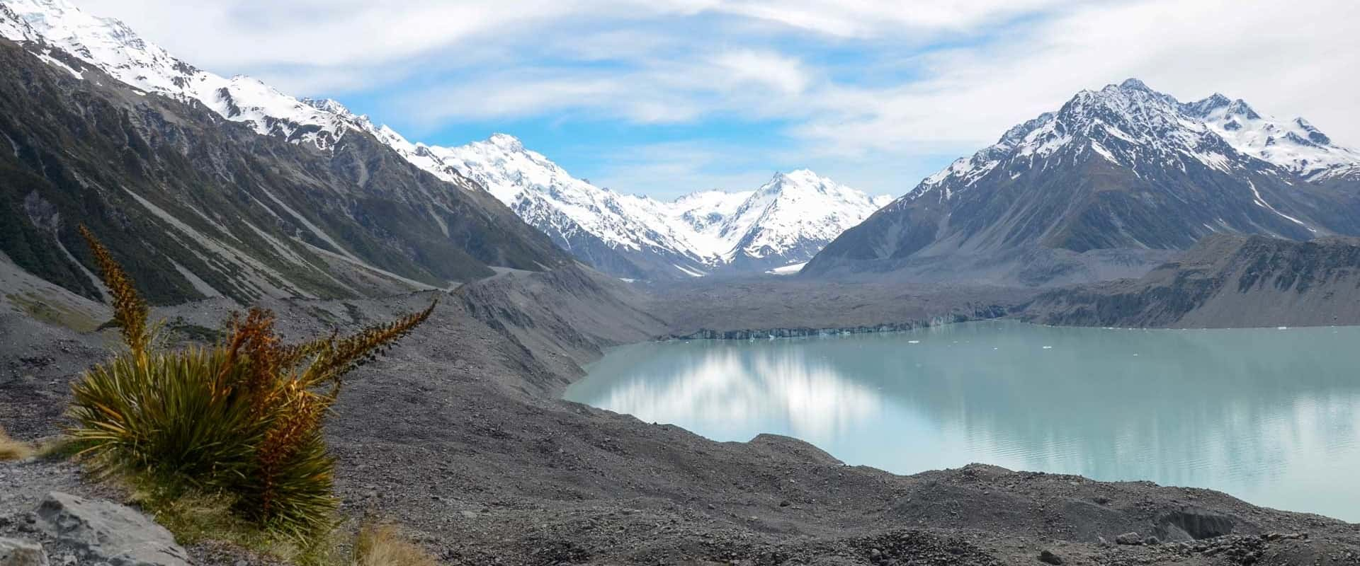 view of Tasman Glacier terminal lake